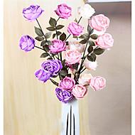1 Gren Polyester Roser Bordblomst Kunstige blomster