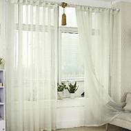 Propp Topp Dobbelt Plissert Blyant Plissert Window Treatment Moderne , Ensfarget Stue Lin Materiale Gardiner Skygge Hjem Dekor For Vindu