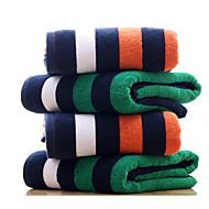 baratos Toalha de Banho-Qualidade superior Toalha de Banho, Listrado Poliéster / Algodão Banheiro