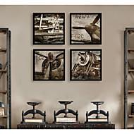 billige Innrammet kunst-Transport Vintage Tegning Veggkunst,PVC Materiale med ramme For Hjem Dekor Rammekunst Stue Kjøkken Spisestue Soverom Kontor Barnerom