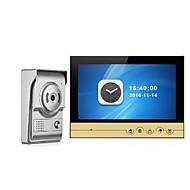 billige Dørtelefonssystem med video-9 tommers fargegjengivelse monitor video dør telefon intercom system med nattesyn kamera dørklokke intercom