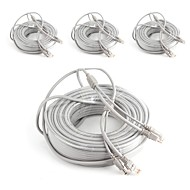 cheap -Cables 4PCS 164ft CCTV RJ45 Video Network Cable DC Power Camera Extension for Security Systems 5000cm 4.2kg
