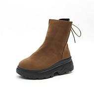 Dames Schoenen Nubuck leder Winter Comfortabel Sneakers Ronde Teen Voor Zwart Bruin
