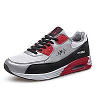 Miehet kengät PU Talvi Comfort Urheilukengät Fitness ja Crosstraining Neulottu pitsi varten Urheilullinen Kausaliteetti Valkoinen Musta