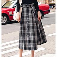 Žene Suknja Chic & Moderna Suknje - Color block Visoki struk