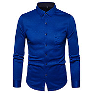 Skjorte Herre Trykt mønster Gatemote Blå XXL / Langermet