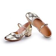 billige Moderne sko-Dame Moderne Kunstlær Høye hæler Utendørs Tvinning Tykk hæl Gull Sølv Kan spesialtilpasses
