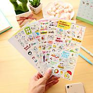 billige Kontor Nødvendigheter-6 stk / sett tegneserie gris dagbok klistremerke klistremerke klistremerke klistremerke