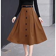 Dámské Elegantní & moderní Sukně Sukně Pevná barva Vysoký pas
