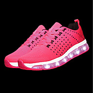 Women's Shoes Tulle Spring Fall Light Up Shoes Athletic Shoes Running Shoes Round Toe For Athletic Gray Fuchsia Black/Red