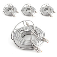 cheap -Cables 4PCS 99ft CCTV RJ45 Video Network Cable DC Power Camera Extension for Security Systems 3000cm 2.7kg