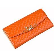 女性 バッグ オールシーズン 牛側 エナメル ウォレット リボン のために ショッピング カジュアル オレンジ