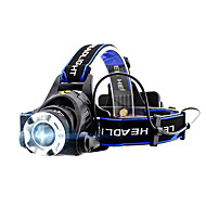 cheap -GELE044AB Headlamps 4 Mode with Batteries Zoomable / Professional Camping / Hiking / Caving / Everyday Use / Cycling / Bike Black