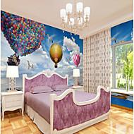 baratos Papel de Parede-Estampado Art Deco 3D Papel de Parede Para Casa Moderna Clássico Rústico Revestimento de paredes , Tela Material adesivo necessário Mural