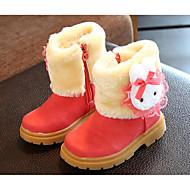 tanie Obuwie dziewczęce-Dla dziewczynek Obuwie Zamsz Wiosna / Jesień Comfort / Śniegowce Buciki na Brown / Czerwony / Różowy