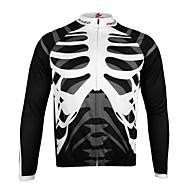 Arsuxeo Dugih rukava Biciklistička majica Lubanje Bicikl Biciklistička majica, Quick dry, Anatomski dizajn, Prozračnost, Reflektirajuće