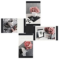 cheap Picture Frames-Modern/Contemporary PU Leather ABS Painting Picture Frames Wall Decorations, 4pcs