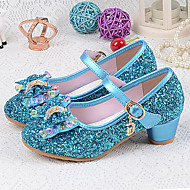 cheap Girls' Shoes-Girls' Shoes PU(Polyurethane) Spring & Summer Basic Pump Heels Crystal / Bowknot for Silver / Blue