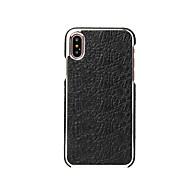 billiga Mobil cases & Skärmskydd-Fierre Shann fodral Till Apple / iPhone X Ultratunt Skal Enfärgad Hårt Äkta Läder för iPhone X