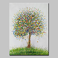 billiga Blom-/växtmålningar-Hang målad oljemålning HANDMÅLAD - Blommig / Botanisk Enkel / Moderna Duk / Sträckt kanfas