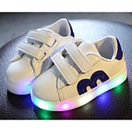 baratos Super Ofertas-Para Meninos sapatos Couro Ecológico Lona Primavera Outono Conforto Tênis Caminhada Velcro para Casual Dourado Preto Vermelho Azul