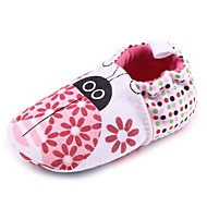 Para Meninas sapatos Tecido Primavera Outono Sapatos de Berço Primeiros Passos Conforto Rasos Elástico para Casual Ao ar livre Rosa claro