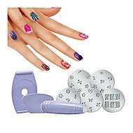 Schönheits-Salon-Nagelkunst-Eilmode vorzügliche Politur 3d diy Designnagel-Druckgerätwerkzeug-Ausrüstungsstempel