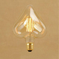 billige Glødelampe-1pc 40W E26/E27 Stjerne Varm hvit 2000 K Dekorativ Glødende Vintage Edison lyspære AC 220-240V V