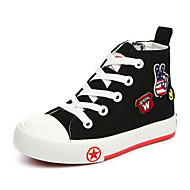 cheap Boys' Shoes-Boys' Shoes Canvas Spring Fall Comfort Sneakers Walking Shoes Lace-up for Casual Black Red Blue