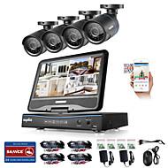 billige DVR-Sett-sannce® 8ch 4pcs 720p lcd dvr værfastt overvåkningssikkerhetssystem støttet analog ahd tvi ip kamera