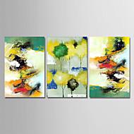 voordelige -Hang-geschilderd olieverfschilderij Handgeschilderde - Abstract Eenvoudig Modern Kangas