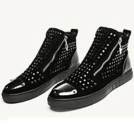 رخيصةأون 70% OFF-للرجال بوتي (جزمة الكاحل) المواد التركيبية خريف / شتاء مريح أحذية رياضية أسود
