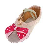 billige Ballettsko-Barne Ballett Lerret Flate Trening Trimmer Flat hæl Beige Kan spesialtilpasses