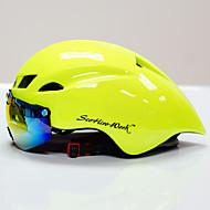 Scohiro-Work Volwassenen Sykkelhjelm med briller Aerohelm 10 Luchtopeningen CE Schokbestendig, Lichtgewicht, Verstelbare pasvorm EPS, PC Sport Wegwielrennen / Recreatiewielrennen / Mountain Bike -