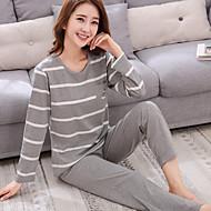 Kvinders Jakkesæt Pyjamas Medium Bomuld Dame Lysegrå