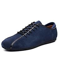 baratos Sapatos Masculinos-Homens Sapatos de Condução Couro Ecológico Primavera / Outono Tênis Preto / Azul Marinho / Azul Claro