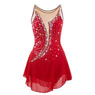 Haljina za klizanje Žene Djevojčice Korcsolyázás Haljine Crvena Štras Visoka elastičnost Seksi blagdanski kostimi Odjeća za klizanje