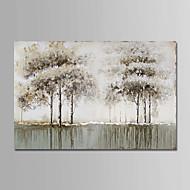 billiga Blom-/växtmålningar-Hang målad oljemålning HANDMÅLAD - Blommig / Botanisk Enkel Moderna Duk