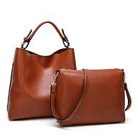 Damen Taschen PU Bag Set 2 Stück Geldbörse Set Reißverschluss für Normal Alle Jahreszeiten Rosa Braun Wein