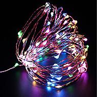 Χαμηλού Κόστους LED Φωτολωρίδες-zdm αδιάβροχο 10m 100 οδήγησε usb 5v νεράιδα φώτα σειρά φώτα πυρκαγιάς Χριστούγεννα διακόσμηση Χριστούγεννα φώτα πολλαπλών χρωμάτων