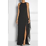 ieftine -Pentru femei Mărime Plus Size Elegant Shift Rochie - Crăpătură, Mată Maxi Negru