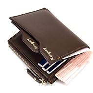 お買い得  ウォレット-男性用 バッグ PU 財布 ジッパー のために ショッピング ブラック / Brown