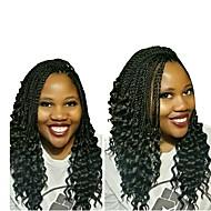 "halpa -Twist punokset 1pack Hiusletit Kihara Senegal-letit 16"" Tulokas Synthetic Musta / Burgundy Musta Grey Gradient Letitetty Hiuspidennykset"