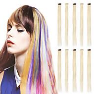 neitsi 10pcs 20''clips i høydepunktet syntetiske hårforlengelser rett cosplay party kjole