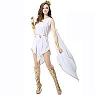 Athena אֵלָה יוון העתיקה רומא העתיקה תחפושות בגדי ריקוד נשים חצאיות לבן וינטאג Cosplay polyster ללא שרוולים באורך  הברך