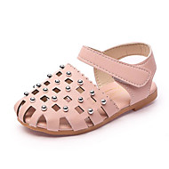 cheap Girls' Shoes-Girls' Shoes Leatherette Winter Fall Comfort Sandals Walking Shoes Rivet for Casual Beige Gray Pink