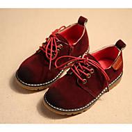 baratos Sapatos de Menino-Para Meninos Sapatos Couro Ecológico Outono / Inverno Conforto Oxfords para Cinzento / Marron / Vinho