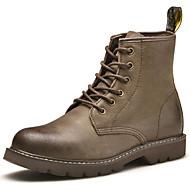 baratos Sapatos Masculinos-Homens Fashion Boots Seda / Pele Napa Outono / Inverno Botas Botas Curtas / Ankle Preto / Khaki