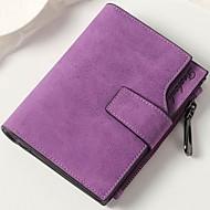 お買い得  ウォレット-女性用 バッグ PU 財布 ボタン のために イベント/パーティー / ショッピング Brown / ダークグレー / ライトグレー