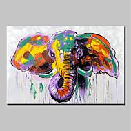 billiga Djurporträttmålningar-mintura® handmålade moderna abstrakt elefant djur oljemålning på kanfas väggkonst bild för heminredning redo att hänga